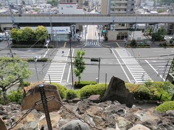 品川神社(富士塚頂上から).jpg