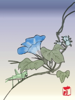 朝顔(塗り絵).JPG