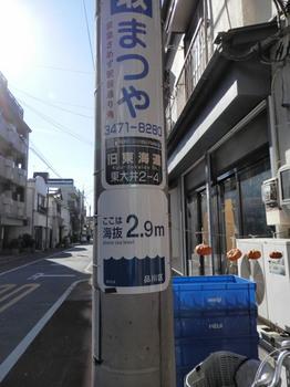 海抜2.9m(旧東海道・東大井).jpg